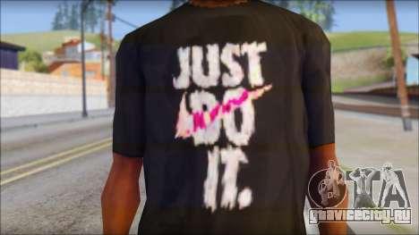 Just Do It NIKE Shirt для GTA San Andreas третий скриншот