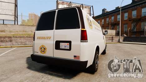 Vapid Speedo Los Santos County Sheriff [ELS] для GTA 4 вид сзади слева