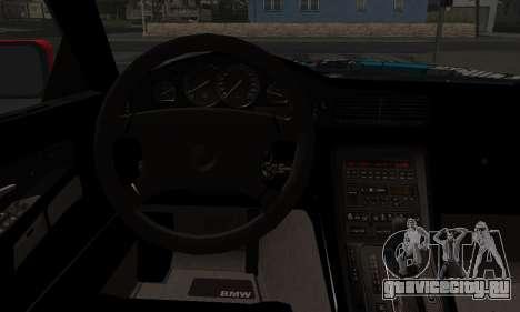 BMW M8 Custom для GTA San Andreas вид сзади слева