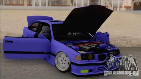 BMW M3 E36 Coupe Slammed для GTA San Andreas вид справа