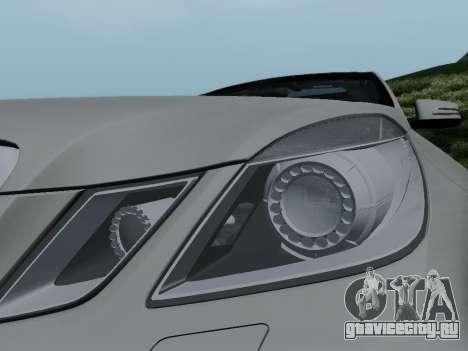 Mercedes-Benz E63 AMG для GTA San Andreas вид сверху