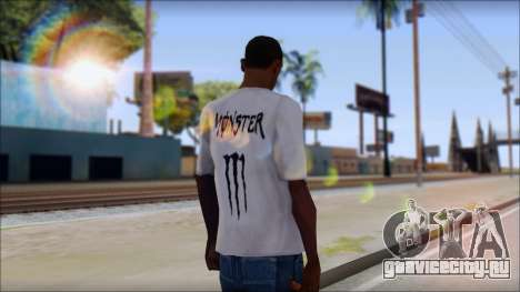 Monster Black And White T-Shirt для GTA San Andreas второй скриншот