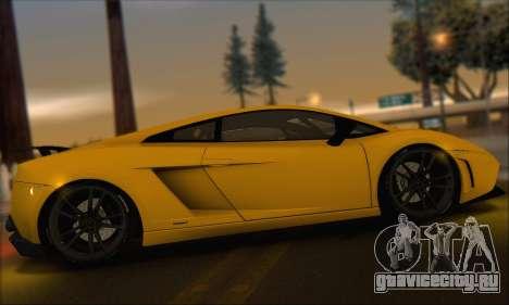 Lamborghini Gallardo LP570 Superleggera для GTA San Andreas вид снизу