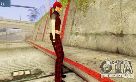 Red Girl Skin для GTA San Andreas второй скриншот