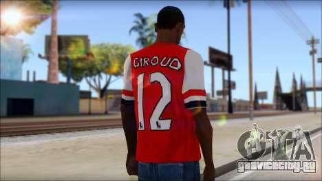 Arsenal FC Giroud T-Shirt для GTA San Andreas второй скриншот
