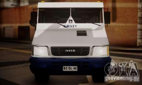 Iveco Daily Brinks для GTA San Andreas вид сзади слева