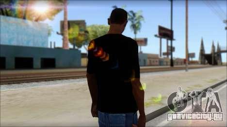Skull T-Shirt Black для GTA San Andreas второй скриншот