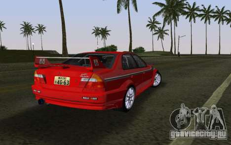 Mitsubishi Lancer Evolution 6 Tommy Makinen Edit для GTA Vice City вид слева