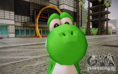 Yoshi from Super Mario для GTA San Andreas третий скриншот