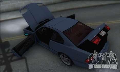 BMW E31 850CSi 1996 для GTA San Andreas вид сверху