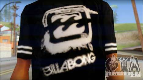 Billabong T-Shirt Black для GTA San Andreas третий скриншот