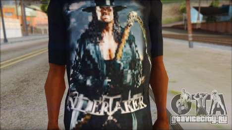 Undertaker T-Shirt v2 для GTA San Andreas третий скриншот