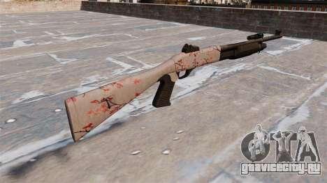 Ружьё Benelli M3 Super 90 cherry blososm для GTA 4 второй скриншот