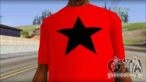 Vidick from Infected Rain Red T-Shirt для GTA San Andreas третий скриншот