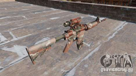 Автоматический карабин М4А1 Forest Camo для GTA 4 второй скриншот