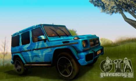 Mercedes-Benz G65 Blue Star для GTA San Andreas вид справа