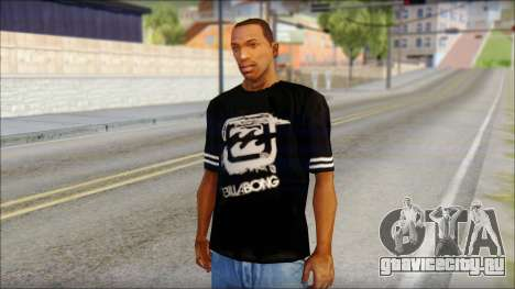 Billabong T-Shirt Black для GTA San Andreas