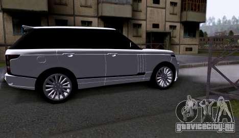 Land Rover Range Rover Startech для GTA San Andreas вид сзади слева
