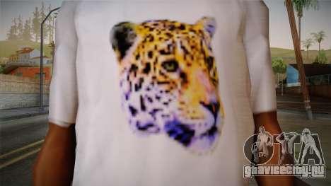 Leopard Shirt White для GTA San Andreas третий скриншот