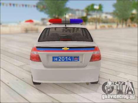 Chevrolet Aveo Милиция ДНР для GTA San Andreas вид справа