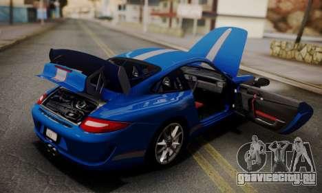 Porsche 911 GT3 RS4.0 2011 для GTA San Andreas вид снизу