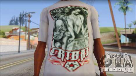 Tribal tee Mouse Inked White T-Shirt для GTA San Andreas третий скриншот
