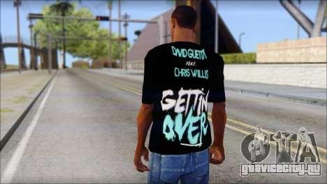 David Guetta Gettin Over T-Shirt для GTA San Andreas второй скриншот