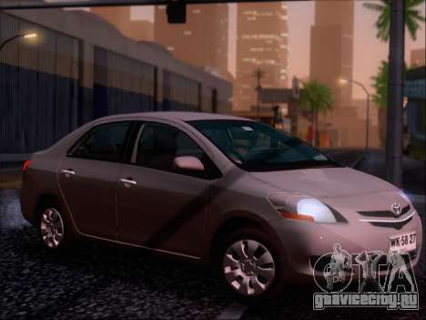 Toyota Yaris 2008 Sedan для GTA San Andreas двигатель