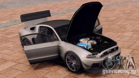 Ford Mustang GT 2014 Custom Kit для GTA 4 вид сзади