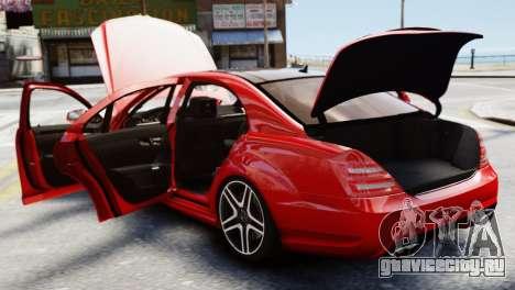 Mercedes-Benz S65 W221 AMG v1.3 для GTA 4 вид изнутри