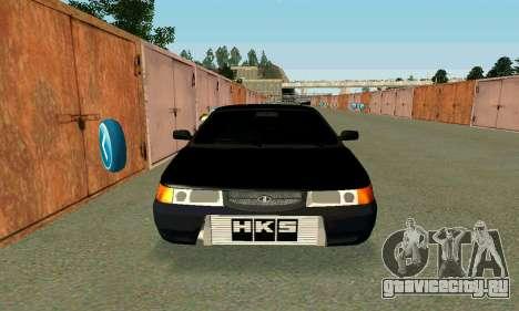 ВАЗ 21123 Turbo для GTA San Andreas вид сзади