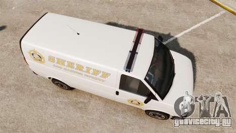 Vapid Speedo Los Santos County Sheriff [ELS] для GTA 4 вид справа