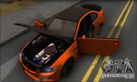 BMW M3 E92 Soft Tuning для GTA San Andreas вид сбоку
