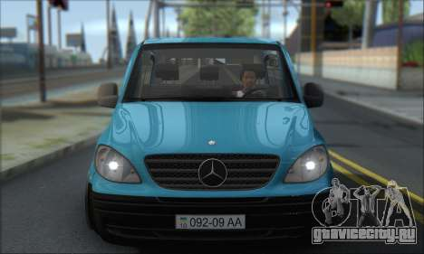 Mercedes-Benz 115 CDI Vito 2007 Stance для GTA San Andreas вид сзади