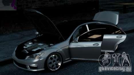 Mercedes-Benz S65 W221 AMG v1.3 для GTA 4 вид справа
