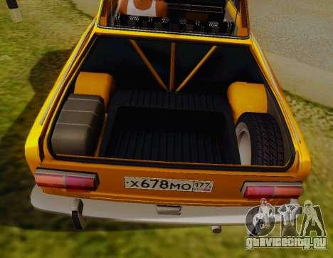 ВАЗ 2101 Пикап для GTA San Andreas вид сзади