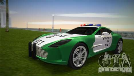 Aston Martin One-77 police для GTA Vice City