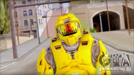 Masterchief Yellow from Halo для GTA San Andreas третий скриншот