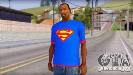 Superman T-Shirt v1 для GTA San Andreas