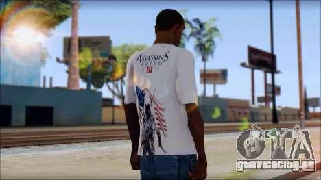 Assassins Creed 3 Fan T-Shirt для GTA San Andreas второй скриншот