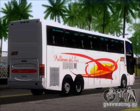 Busscar Jum Buss 400 Volvo B10R Pullman Del Sur для GTA San Andreas вид сзади слева