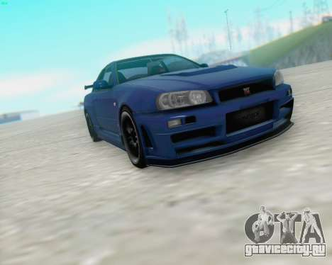 Nissan Skyline R34 Fast and Furious 4 для GTA San Andreas вид слева