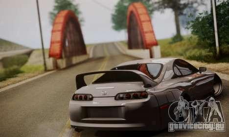 Toyota Supra Stock для GTA San Andreas вид слева