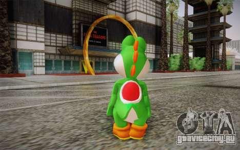 Yoshi from Super Mario для GTA San Andreas второй скриншот
