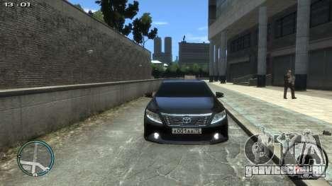 Toyota Camry 2013 для GTA 4 вид справа
