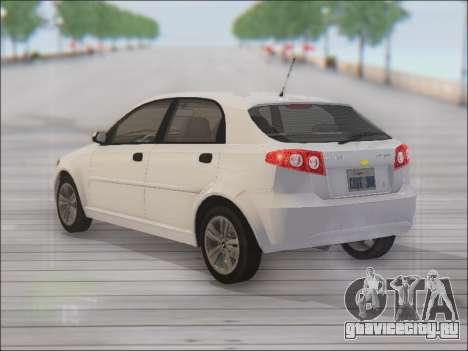 Chevrolet Lacetti для GTA San Andreas вид сзади слева