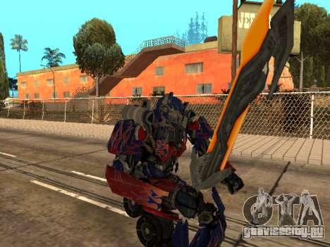 Optimus Sword для GTA San Andreas девятый скриншот