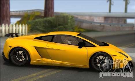 Lamborghini Gallardo LP570 Superleggera для GTA San Andreas вид сзади