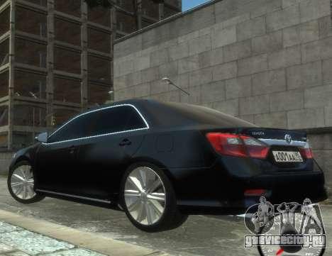 Toyota Camry 2013 для GTA 4 вид сзади слева