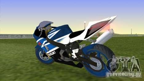 Suzuki GSX-R 1000 для GTA Vice City вид слева